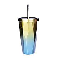 billiga Dricksglas-Dryckes Rostfritt stål Vardagsdricksglas / Vattenflaskor / Sugrör Gulligt 1 pcs