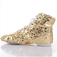 billige Jazz-sko-Dame Jazz-sko Syntetisk Flate Flat hæl Dansesko Gull / Sølv
