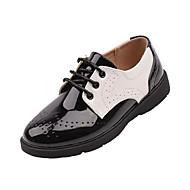 baratos Sapatos de Menino-Para Meninos Sapatos Couro Sintético Primavera & Outono Conforto Oxfords Cadarço para Infantil / Adolescente Preto / Branco / Preto