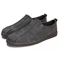 baratos Sapatos Masculinos-Homens Bullock Tênis Pele Outono Mocassins e Slip-Ons Preto / Cinzento / Marron