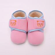 baratos Sapatos de Menina-Para Meninas Sapatos Camurça Primavera & Outono Primeiros Passos Tênis Velcro para Bebê Amarelo / Azul / Rosa claro
