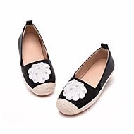 baratos Sapatos de Menina-Para Meninas Sapatos Couro Sintético Primavera & Outono Conforto Mocassins e Slip-Ons para Branco / Preto / Cinzento