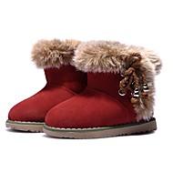 baratos Sapatos de Menina-Para Meninas Sapatos Camurça Inverno Botas de Neve Botas Mocassim para Bebê Vermelho / Botas Curtas / Ankle / Leopardo