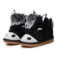 baratos Sapatos de Menina-Para Meninas Sapatos Camurça Inverno Botas de Neve / Forro de peles Botas Mocassim para Bébé Preto / Pêssego / Marron / Botas Curtas / Ankle / Festas & Noite