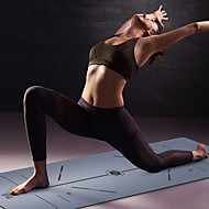 billige Matter-Yoga Matte 183*68*0.5 cm Lugtfri, Økovennlig, Sklisikker, Høy tetthet Naturgummi Slankende, Vekttap, Fat Burner, Posisjonslinje Til Yoga & Danse Sko / Pilates / Trening & Fitness Rød Fersken, Bl