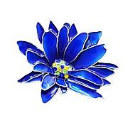 Жен. Стильные Броши Цветы Дамы Стиль Классика Брошь Бижутерия Синий Назначение Повседневные