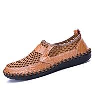 Муж. Эластичная ткань Лето Удобная обувь Мокасины и Свитер Коричневый / Зеленый / Синий