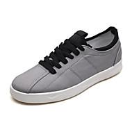 baratos Sapatos Masculinos-Homens Sapatos Confortáveis Lona Outono Tênis Preto / Cinzento