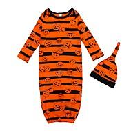 billige Undertøj og sokker til babyer-2stk Baby Pige Aktiv / Basale Stribet / Trykt mønster Halvlange ærmer Lang Lang Bomuld Nattøj