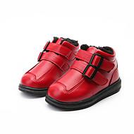 baratos Sapatos de Menino-Para Meninos Sapatos Couro Inverno Botas de Neve Botas Caminhada para Infantil Preto / Vermelho / Botas Curtas / Ankle