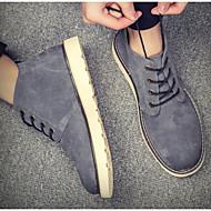 baratos Sapatos Masculinos-Homens Sapatos Confortáveis Microfibra Primavera & Outono / Primavera Verão Casual Botas Botas Curtas / Ankle Preto / Cinzento / Amarelo