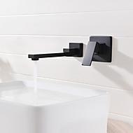billige Rabatt Kraner-Baderom Sink Tappekran - Utbredt / Nytt Design Svart Vægmonteret Enkelt håndtak To Huller