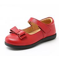 baratos Sapatos de Menina-Para Meninas Sapatos Pele Verão / Outono Sapatos para Daminhas de Honra Rasos Laço para Infantil Preto / Vermelho / Casamento