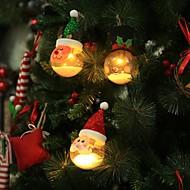Beau Santa Claus Christmas Snowman Deer Hanging LED Ball Christmas Tree Decoration  Lamp Home Bedroom Courtyard Night Light