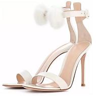 baratos Sapatos Femininos-Mulheres Sapatos Couro Ecológico Verão Conforto Sandálias Salto Agulha Branco / Preto / Vermelho