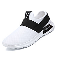 baratos Sapatos de Tamanho Pequeno-Homens Sapatos Confortáveis Com Transparência Outono Casual Tênis Caminhada Não escorregar Branco / Preto / Cinzento