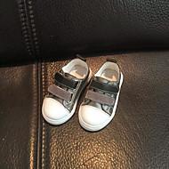 baratos Sapatos de Menino-Para Meninos / Para Meninas Sapatos Pele Primavera & Outono Primeiros Passos Tênis Velcro para Bebê Preto / Café / Vermelho