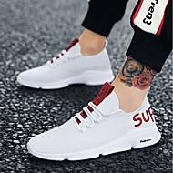 Herre Sneakers Gummi Vandring / Løb / Jogging Letvægt, Anti-Rystelse, Åndbart Åndbar Blanding Hvid / Gul / Rød