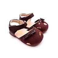 baratos Sapatos de Menina-Para Meninas Sapatos Couro Sintético Verão Conforto Rasos Laço / Velcro para Bébé Marron