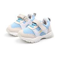 baratos Sapatos de Menina-Para Meninas Sapatos Couro Ecológico Primavera & Outono Conforto Tênis Corrida / Caminhada Velcro para Infantil Roxo / Azul / Rosa claro / Estampa Colorida