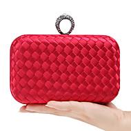 baratos Clutches & Bolsas de Noite-Mulheres Bolsas Palha Bolsa de Festa Botões Vermelho / Rosa / Roxo