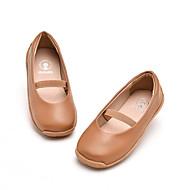baratos Sapatos de Menina-Para Meninas Sapatos Couro Sintético Primavera & Outono Conforto Rasos Elástico para Infantil Preto / Amarelo / Marron