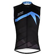 ILPALADINO Hombre Sin Mangas Maillot de Ciclismo - Negro / azul Color sólido Bicicleta Chalecos Camiseta / Maillot Tank Tops / Camiseta Secado rápido Deportes Ecológico Poliéster 100% Poliéster