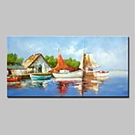 billiga Landskapsmålningar-Hang målad oljemålning HANDMÅLAD - Landskap Traditionell Duk