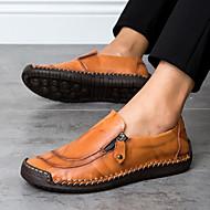 baratos Sapatos Masculinos-Homens Sapatos Confortáveis Pele Napa / Pele Primavera Verão Mocassins e Slip-Ons Preto / Castanho Claro / Castanho Escuro