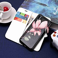 Etui Til Apple iPhone XS / iPhone XR / iPhone XS Max Lommebok / Kortholder / med stativ Heldekkende etui Blomsternål i krystall Hard PU Leather