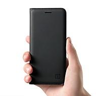 billiga Mobil cases & Skärmskydd-fodral Till OnePlus 5 / OnePlus 5T Korthållare / Lucka Fodral Enfärgad Hårt Äkta Läder för OnePlus 6 / One Plus 5 / OnePlus 5T