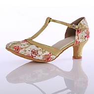 billige Moderne sko-Dame Moderne sko Lakklær / Netting Høye hæler Tvinning Kubansk hæl Kan spesialtilpasses Dansesko Rød