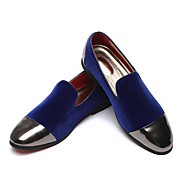 cheap Men's Slip-ons & Loafers-Men's Formal Shoes Faux Leather Fall & Winter Casual / Chinoiserie Loafers & Slip-Ons Water Proof Striped Black / Red / Blue / Party & Evening / Sequin / Party & Evening / Office & Career