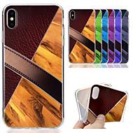 billiga Mobil cases & Skärmskydd-fodral Till Apple iPhone XS / iPhone XS Max Mönster Skal Trämönstrat / Marmor Mjukt TPU för iPhone XS / iPhone XR / iPhone XS Max