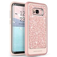 billiga Mobil cases & Skärmskydd-BENTOBEN fodral Till Samsung Galaxy S8 Plus Genomskinlig / Mönster / Glittrig Skal Enfärgad Mjukt TPU / PC för S8 Plus