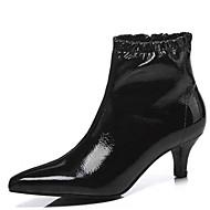 baratos Sapatos Femininos-Mulheres Fashion Boots Camurça / Microfibra Inverno Botas Salto Baixo Dedo Fechado Botas Curtas / Ankle Preto / Rosa claro