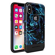 billiga Mobil cases & Skärmskydd-BENTOBEN fodral Till Apple iPhone X / iPhone XS Plätering / IMD / Mönster Skal Linjer / vågor / Frukt Hårt TPU / PC för iPhone XS / iPhone X