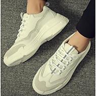 tanie Obuwie męskie-Męskie Komfortowe buty Mikrowłókno Lato Casual Buty do lekkiej atletyki Bieganie Biały / czarny / biały