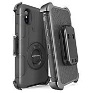 billiga Mobil cases & Skärmskydd-BENTOBEN fodral Till Apple iPhone X / iPhone XS Stötsäker / Dammtät / med stativ Fodral Enfärgad / Rustning Hårt PC / Kiselgel för iPhone XS / iPhone X