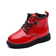 baratos Sapatos de Menino-Para Meninos / Para Meninas Sapatos Couro Sintético / Couro Ecológico Primavera & Outono / Primavera Verão Conforto / Coturnos Botas Caminhada Ziper / Cadarço para Infantil Preto / Vermelho