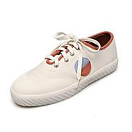 baratos Sapatos Femininos-Mulheres Sapatos Confortáveis Linho Inverno Mocassins e Slip-Ons Sem Salto Dedo Fechado Azul Claro / Khaki