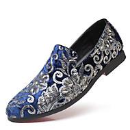baratos Sapatos Masculinos-Homens Sapatos formais Cetim Outono & inverno Clássico / Formais Mocassins e Slip-Ons Respirável Preto / Vermelho / Azul / Festas & Noite