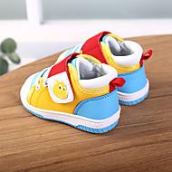 baratos Sapatos de Menino-Para Meninos / Para Meninas Sapatos Couro Ecológico Primavera & Outono / Primavera Conforto Tênis Caminhada Velcro para Infantil Azul Escuro / Amarelo / Rosa claro