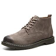 tanie Small Size Shoes-Męskie Obuwie w stylu wojskowym Skóra Jesień i zima Botki Antypoślizgowe Kozaczki / kozaki do kostki Kawowy / Brązowy / Khaki