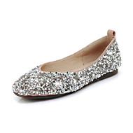 baratos Super Ofertas-Mulheres Sapatos Confortáveis Sintéticos Outono Rasos Sem Salto Ponta Redonda Preto / Amarelo / Rosa Claro / Casamento / Festas & Noite