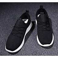 Муж. Комфортная обувь Эластичная ткань Весна & осень На каждый день Кеды Белый / Черный / Серый