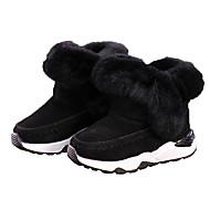 baratos Sapatos de Menina-Para Meninas Sapatos Camurça Outono & inverno Curta / Ankle Botas para Infantil Preto / Cinzento / Botas Curtas / Ankle