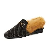 Χαμηλού Κόστους Γυναικεία Παπούτσια-Γυναικεία Παπούτσια άνεσης Σουέτ Φθινόπωρο & Χειμώνας Καθημερινό Μοκασίνια & Ευκολόφορετα Επίπεδο Τακούνι Τετράγωνη Μύτη Μαύρο / Κίτρινο