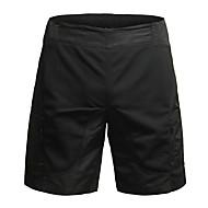 Jaggad Dame Fôrede sykkelshorts Sykkel Shorts / Hengende Shorts / MTB-shorts Pustende, 3D Pute Ensfarget, Rutet Polyester, Elastan Svart Sykkelklær