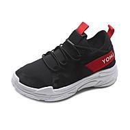 Χαμηλού Κόστους Περπάτημα-Γυναικεία Παπούτσια άνεσης PU Φθινόπωρο Αθλητικά Παπούτσια Περπάτημα Επίπεδο Τακούνι Στρογγυλή Μύτη Λευκό / Μαύρο